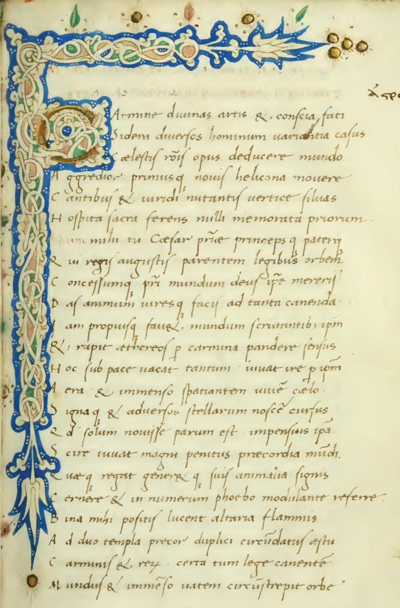 El libro de Astronomica supuestamente escrito por Manilius